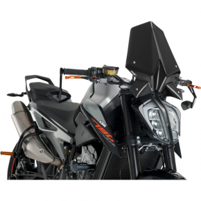 PUIG New Generation Windscreen - Black - KTM