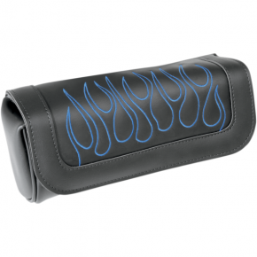 Saddlemen Highwayman Tattoo Tool Pouch - Flame - Blue