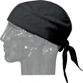 Tie-On Evaporative Cooling Skull Cap - Black