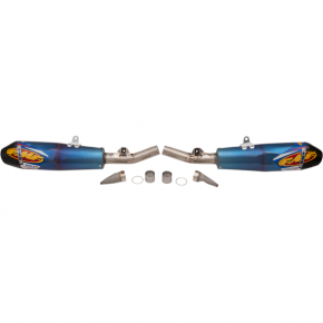 FMF RACING Factory 4.1 RCT Dual Mufflers - Blue Anodized