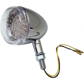 K and S Technologies DOT Turn Signal - LED Single Filament - Clear/Chrome
