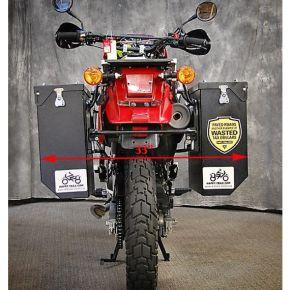 Happy Trails Products Aluminum Pannier Kit CASCADE - KLR650A '87-'07