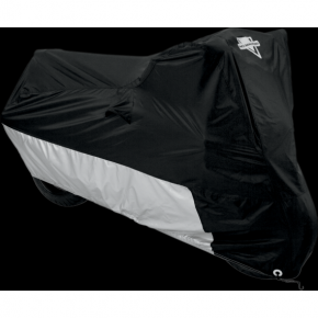 Motorcycle Cover - Black/Silver - Large