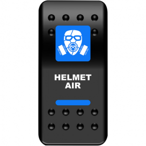 Moose Racing Rocker Switch - Helmet Air - Blue
