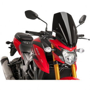 PUIG Race Windscreen - Black - Tour - Suzuki