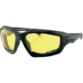 Bobster Desperado Sunglasses - Gloss Black - Yellow