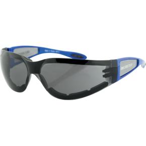 Bobster Shield II Sunglasses - Gloss Blue - Smoke