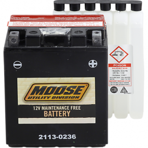 Moose Racing AGM Battery - YTX14AHL-BS