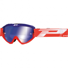 3450 Riot Goggles - Blue/Red - Mirror