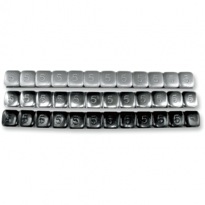 K and L Supply Steel Stick-On - 5 Gram - Black