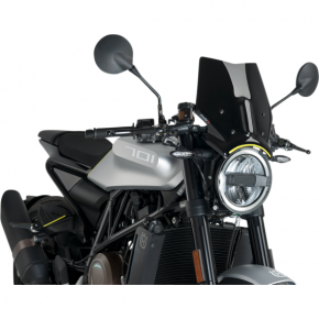 PUIG New Generation Windscreen - Black - Husqvarna