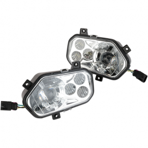 Moose Racing LED Headlight - RZR800/900 - Clear