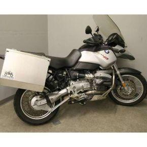 Happy Trails Products Aluminum Pannier Kit (Hi-Pipe) TETON for BMW R1100GS R1150GS/GSA