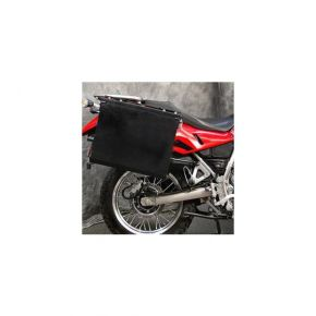 "Happy Trails Products Aluminum Pannier each 7.5"" OWYHEE BLACK WITH PREMOUNT HOLES"