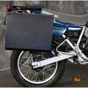 Happy Trails Products Aluminum Pannier Kit TETON  Kawasaki KLR250