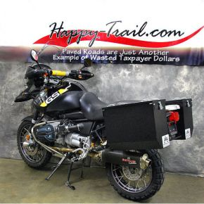 Happy Trails Products Aluminum Pannier Kit (Low-Pipe) TETON for BMW R1150GS/GSA