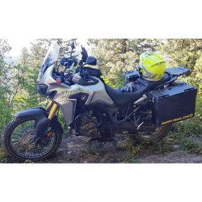 Happy Trails Products Aluminum Pannier Kit TETON - HONDA CRF1000L