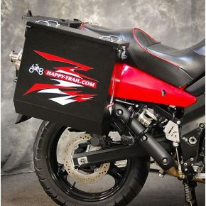 Happy Trails Products Aluminum Pannier Kit CASCADE Suzuki V-Strom 650