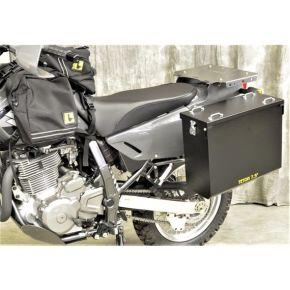 Happy Trails Products Aluminum Pannier Kit TETON - Suzuki DR650