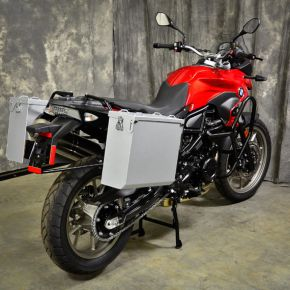 Happy Trails Products Aluminum Pannier Kit OWYHEE - F650GS-F700GS-F800GS Twin
