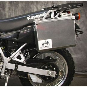 Happy Trails Products Aluminum Pannier Kit IMNAHA Kawasaki KLR650A '87-'07