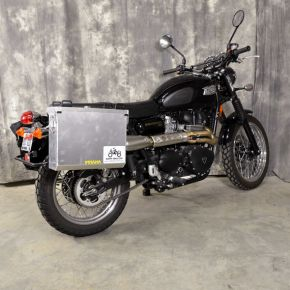 Happy Trails Products Aluminum Pannier Kit IMNAHA - Triumph Scrambler