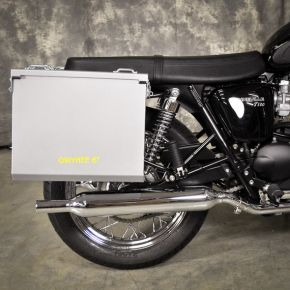 Happy Trails Products Aluminum Pannier Kit OWYHEE - Triumph Bonneville