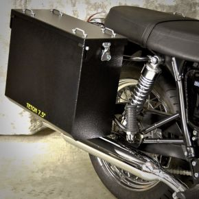 Happy Trails Products Aluminum Pannier Kit TETON Triumph Bonneville