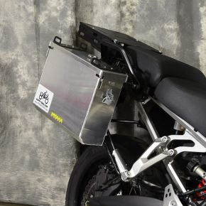 Happy Trails Products Aluminum Pannier Kit IMNAHA Yamaha Super Tenere